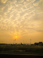 Leaving Bombay airport for Shillong