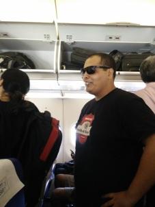 Favdya Falwant getting post flight anxiety