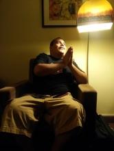 Favdya Falwant worships the Lamp of God